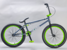 Kush 2+ Grey/Green - complete Mafia BMX Bike